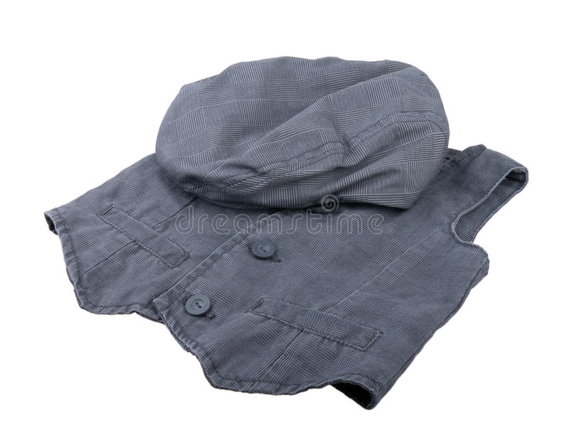 Download Vest and cap. stock photo. Image of textile, object, clothes - 16930614