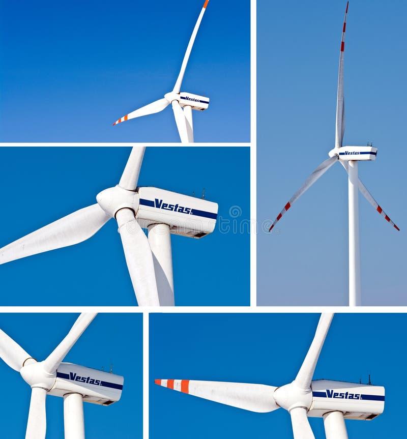 vestas windturbines 免版税图库摄影