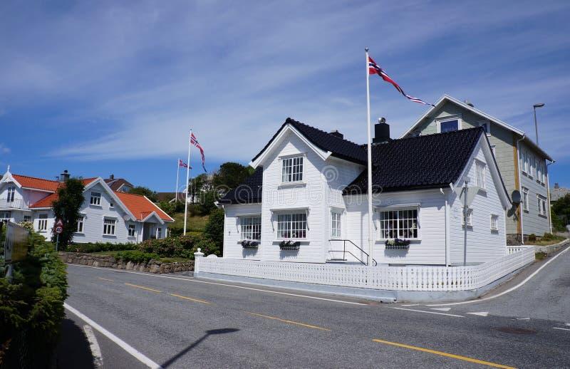 Vestbygd或Borhaug村庄,法尔松自治市,挪威 免版税库存图片