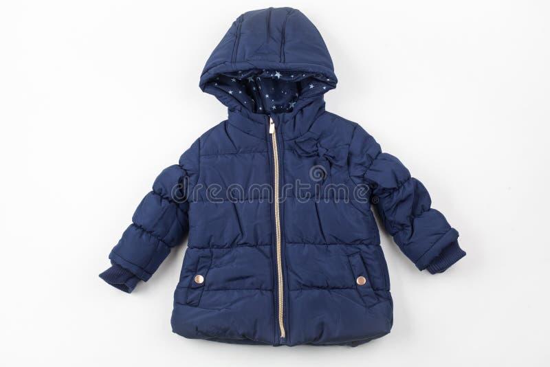 Veste bleue d'hiver d'enfants photos libres de droits