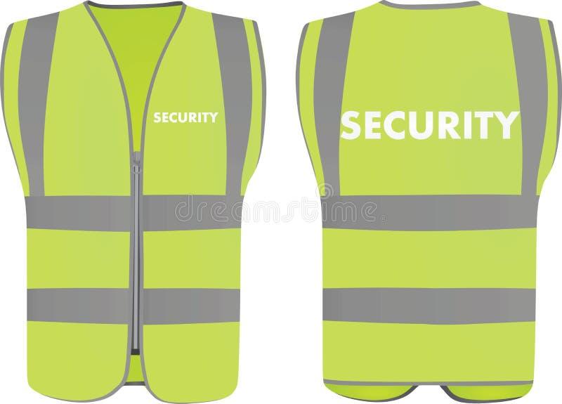 Veste da segurança da segurança ilustração royalty free