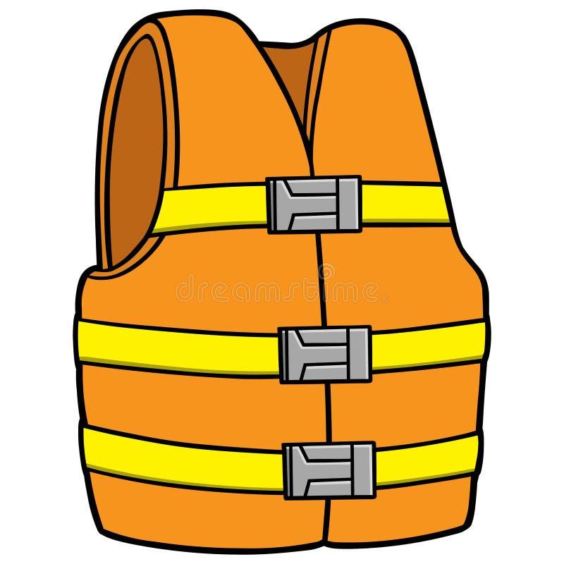 Veste da segurança da água ilustração royalty free