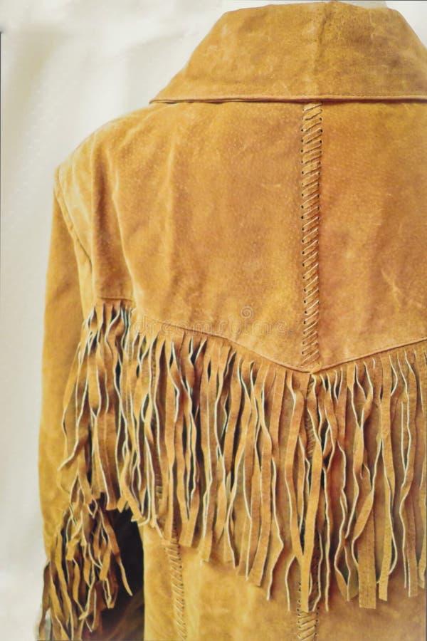 Veste en cuir de frange de vintage image stock