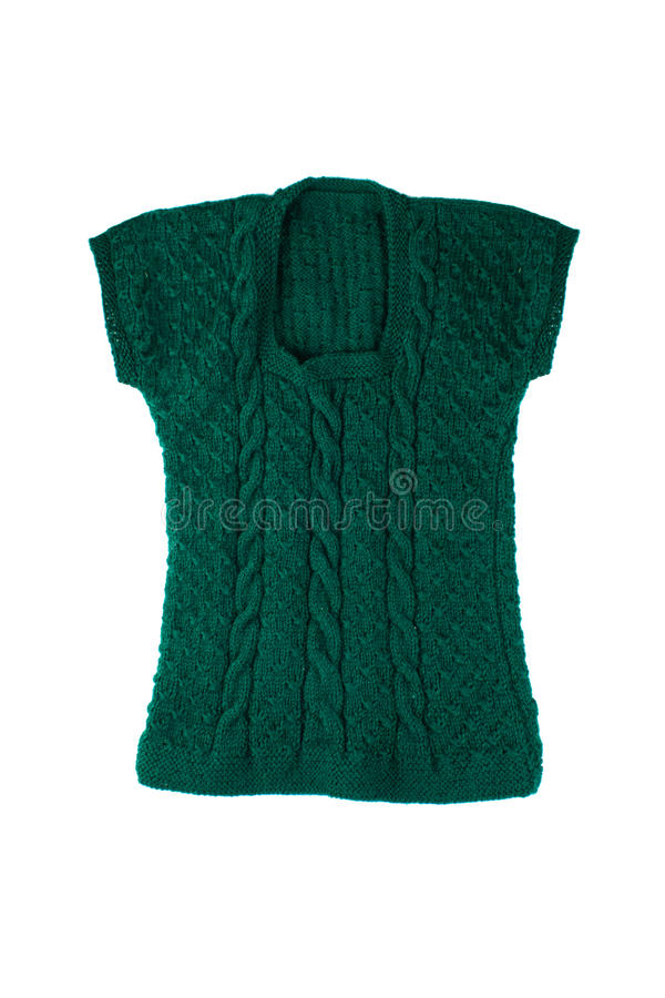 Veste feita malha verde imagens de stock royalty free