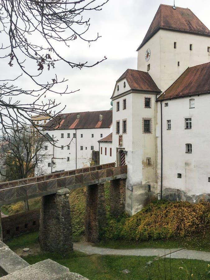 Veste Oberhaus é uma fortaleza velha em Passau, Alemanha imagem de stock