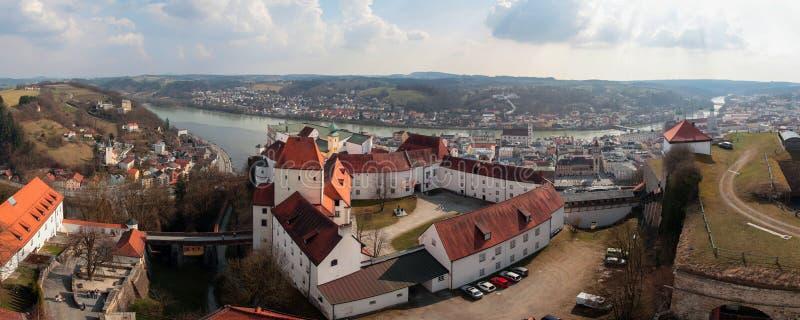 Veste Oberhaus castle in Passau, Germany stock photos