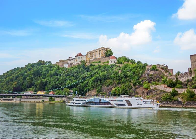 Veste Oberhaus, Passau, Tyskland royaltyfri bild