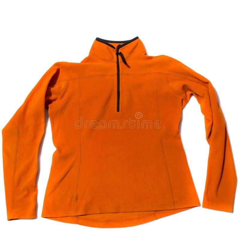 Veste orange d'ouatine image libre de droits
