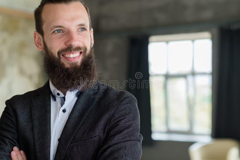 Veste sûre d'homme de consultant en matière d'entraîneur d'affaires image libre de droits