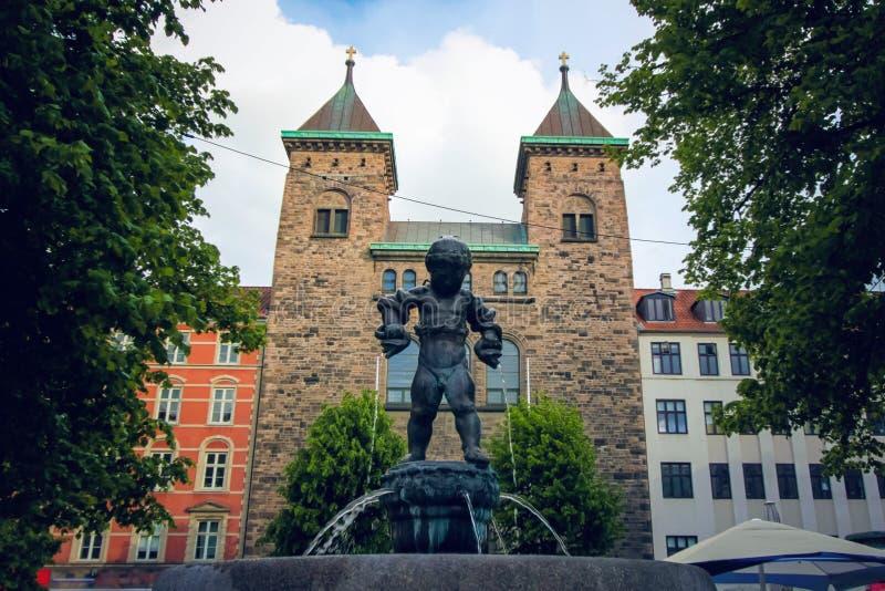 Vesterbrogade La iglesia Copenhague, Dinamarca de Elías foto de archivo libre de regalías