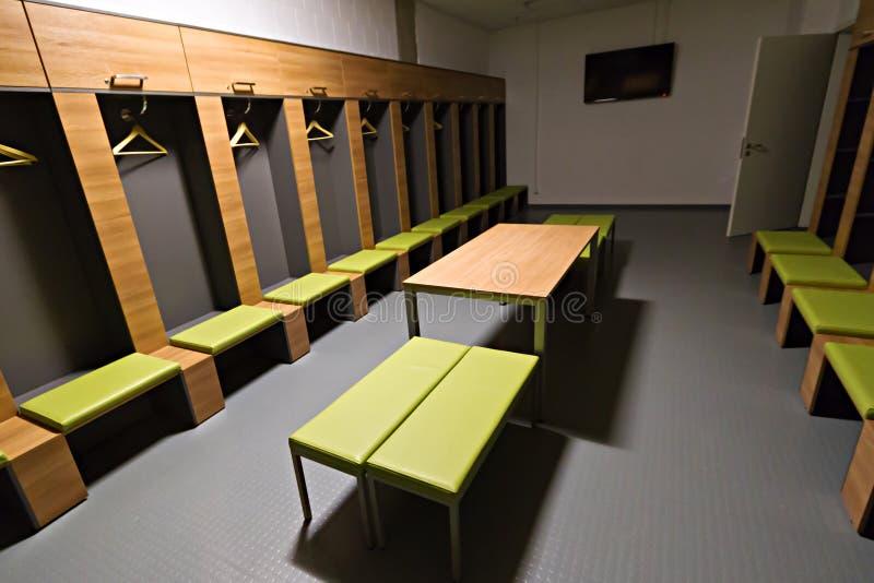 Vestiaire De Joueurs De Stade D Arène De PGE Image éditorial
