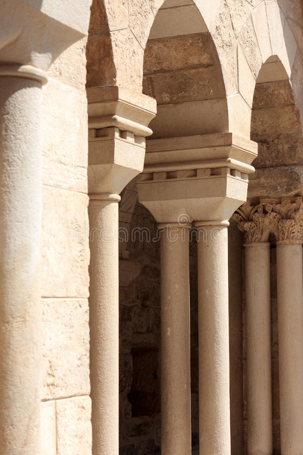 Vestibule d'église de nativité image stock