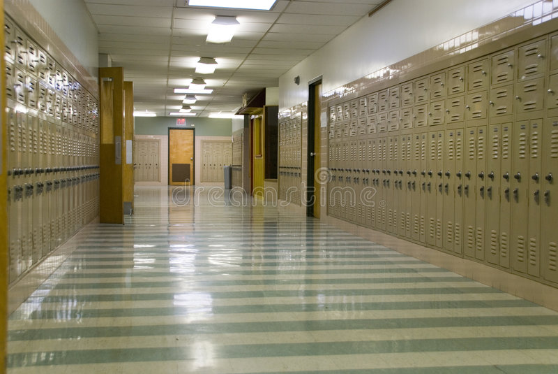 Vestibule vide d'école photos libres de droits