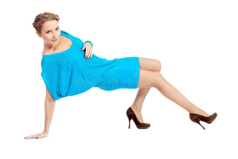 Vestido azul fotografia de stock royalty free