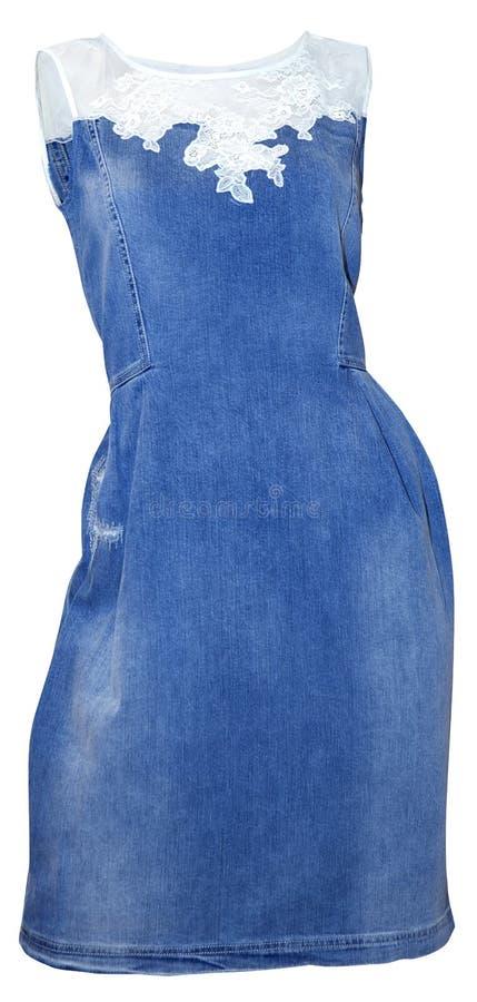 Vestido azul da sarja de Nimes foto de stock royalty free