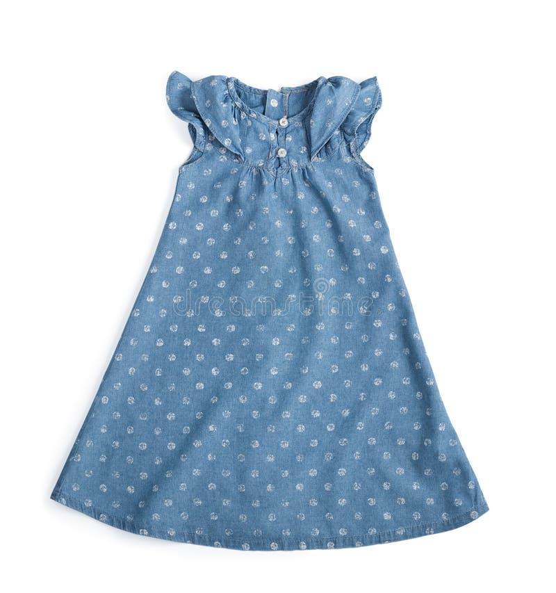 Vestido azul de los vaqueros fotografía de archivo libre de regalías