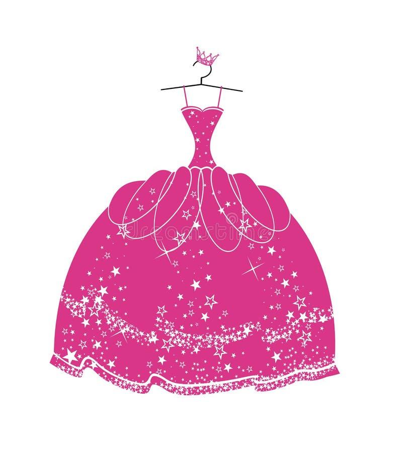 Vestido bonito para uma princesa ilustração do vetor