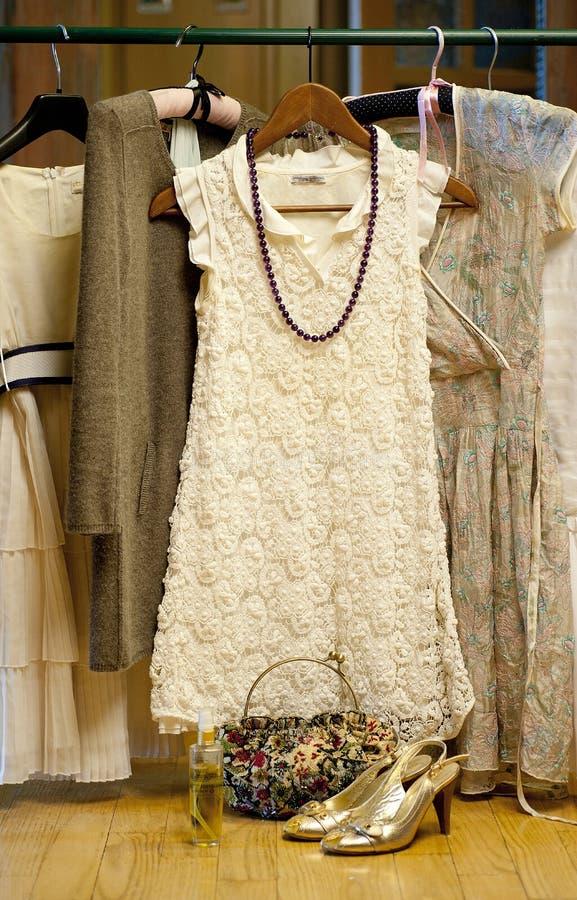 Vestido branco imagem de stock