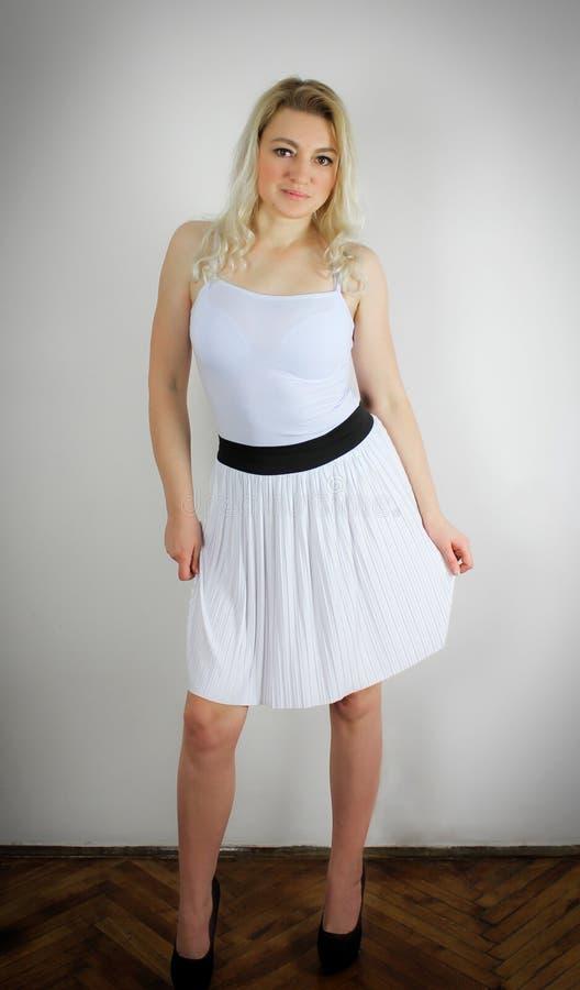 Vestido branco fotografia de stock