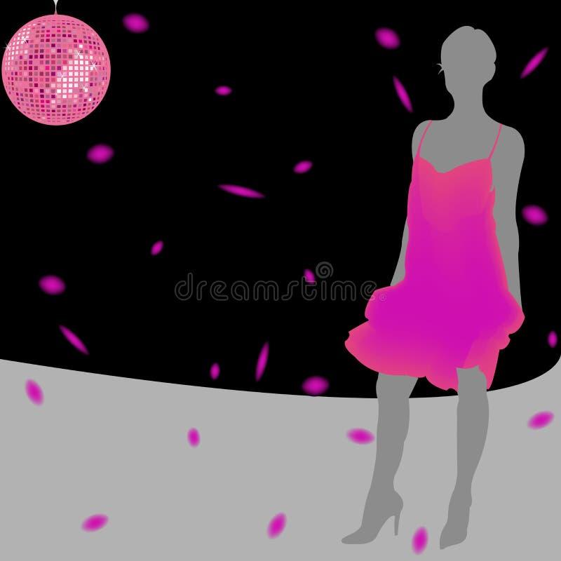 Vestido cor-de-rosa ilustração royalty free