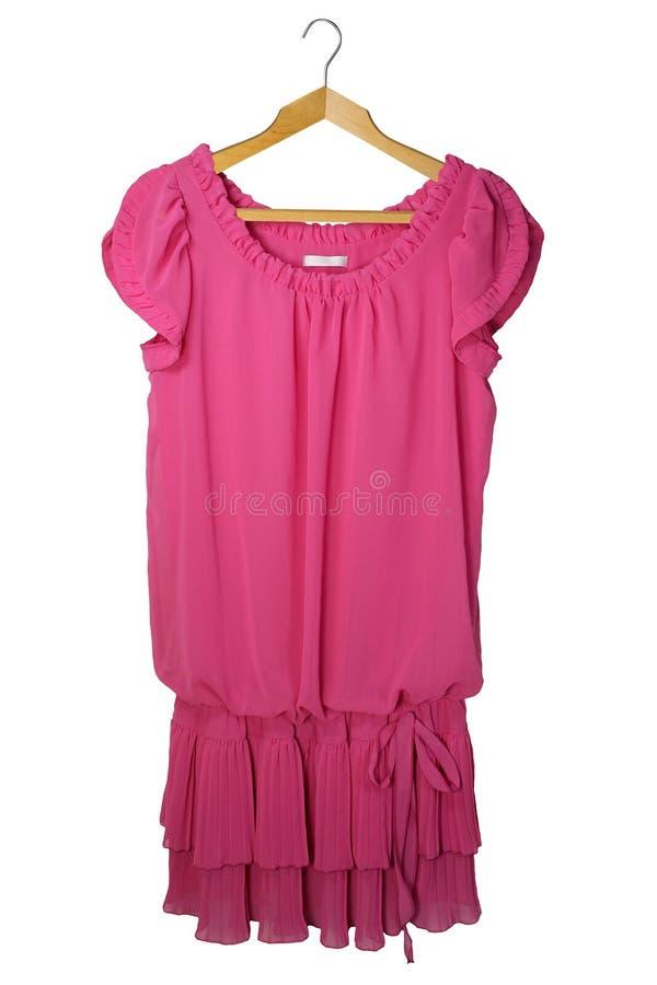 Vestido cor-de-rosa fotografia de stock royalty free