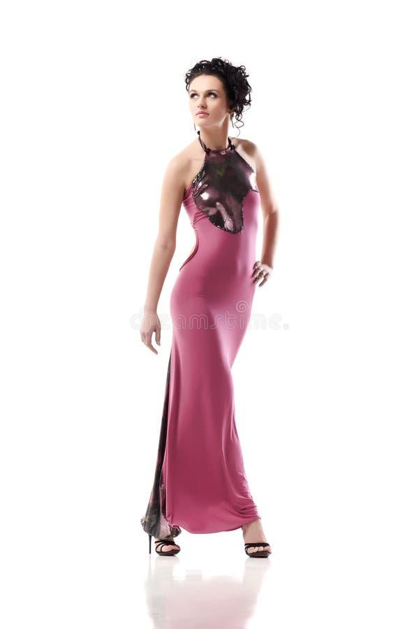Vestido cor-de-rosa foto de stock royalty free