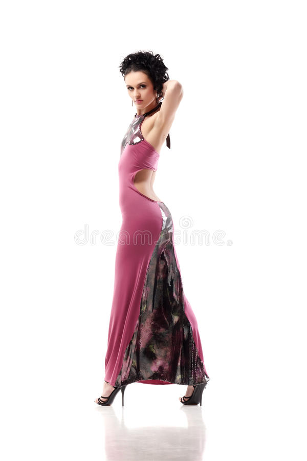 Vestido cor-de-rosa fotos de stock