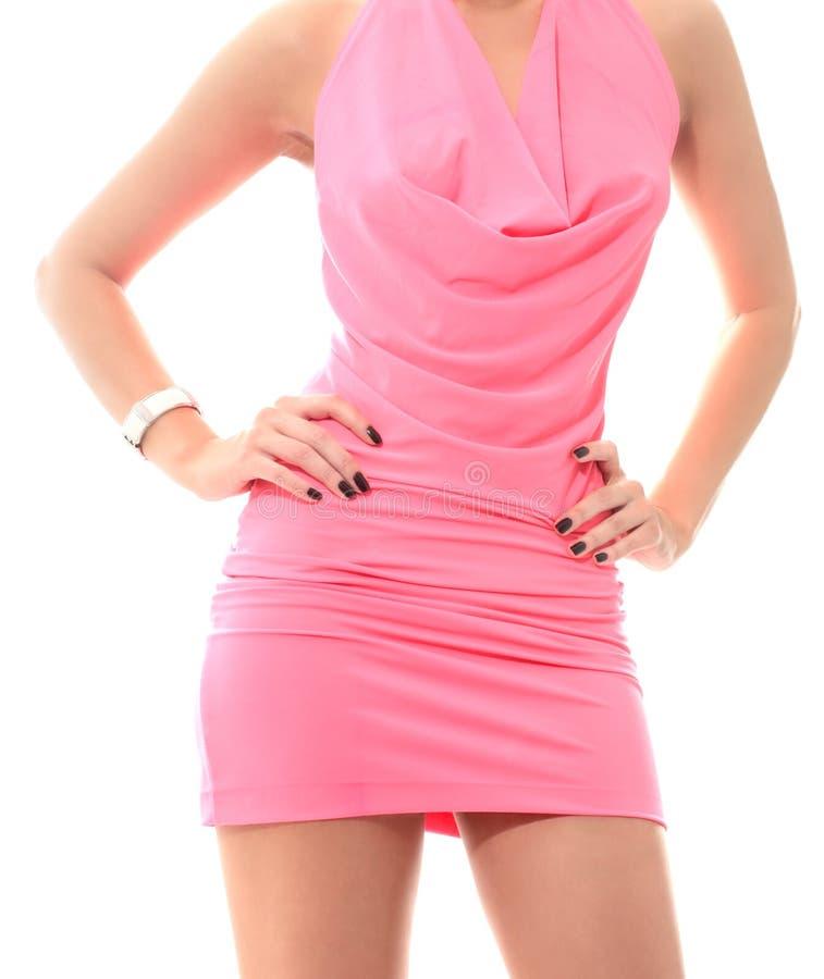 Vestido cor-de-rosa imagens de stock