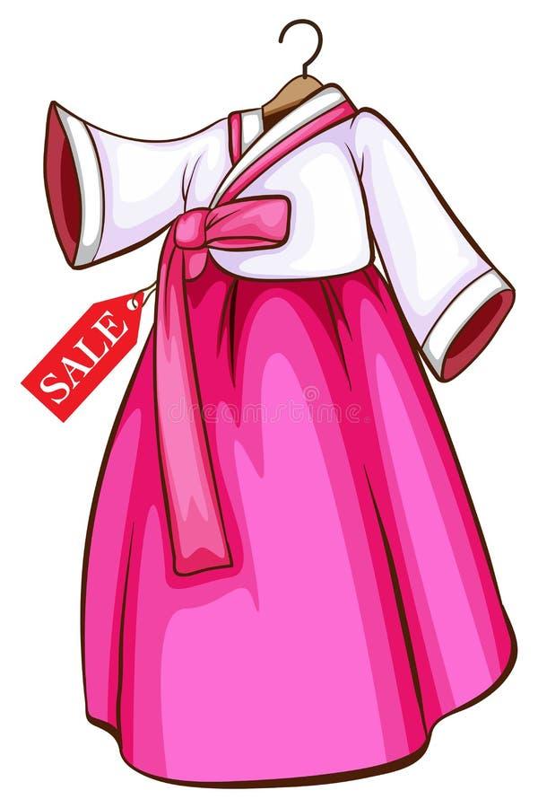Vestido coreano libre illustration