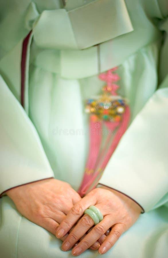 Vestido coreano fotografia de stock