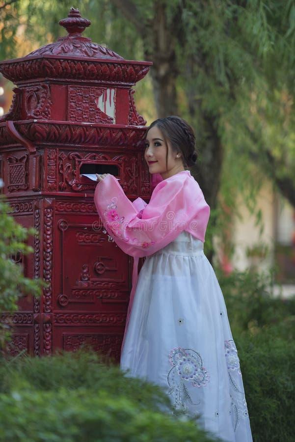 Vestido coreano fotografía de archivo libre de regalías