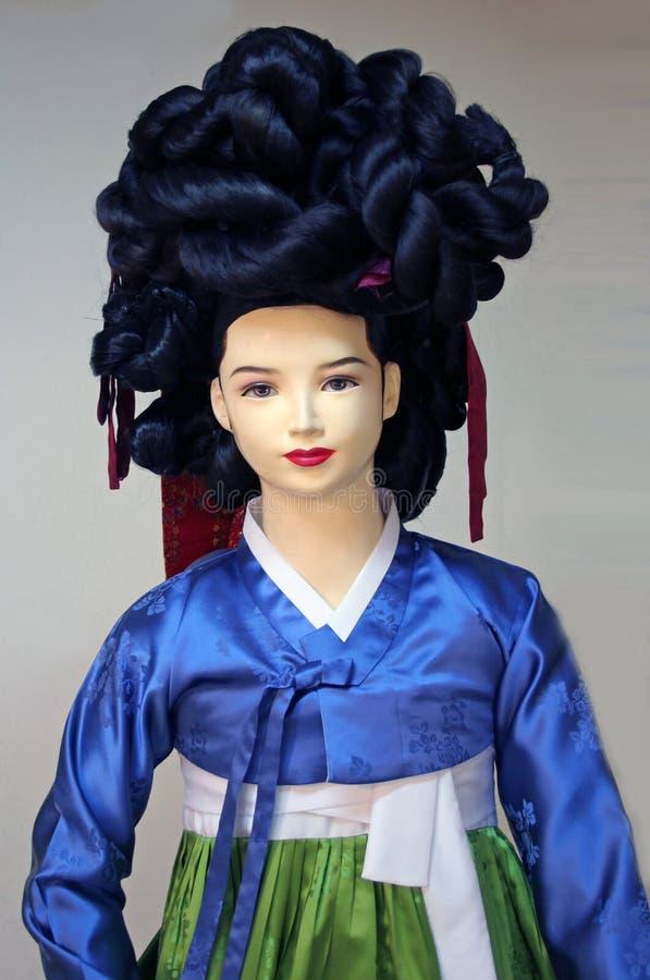 Vestido coreano tradicional imagens de stock