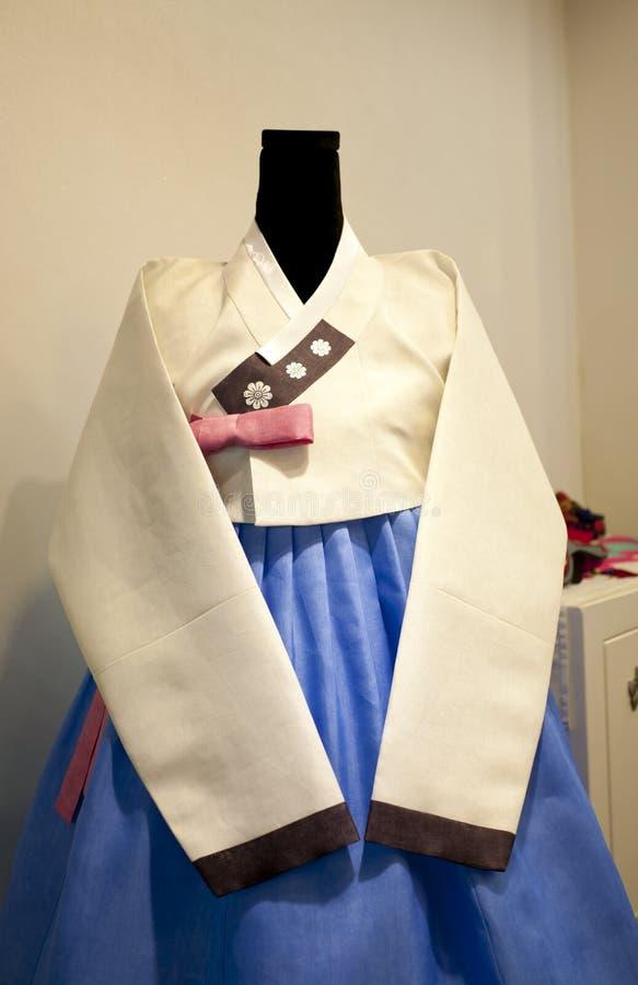 Vestido coreano tradicional imagem de stock