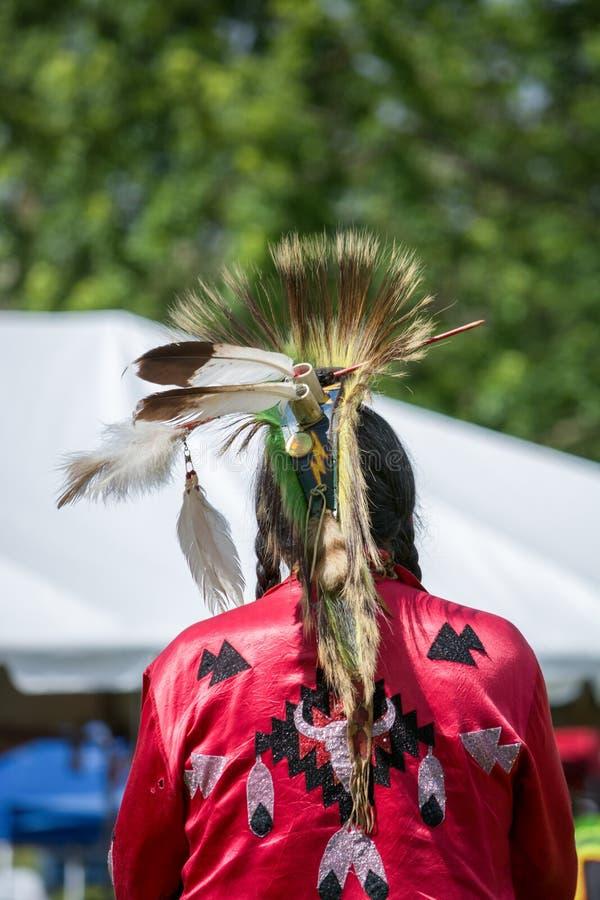 Vestido da cabeça do nativo americano imagens de stock