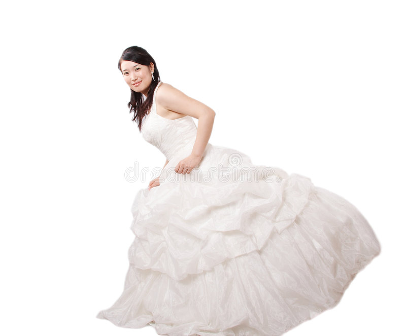 vestido da noiva fotografia de stock