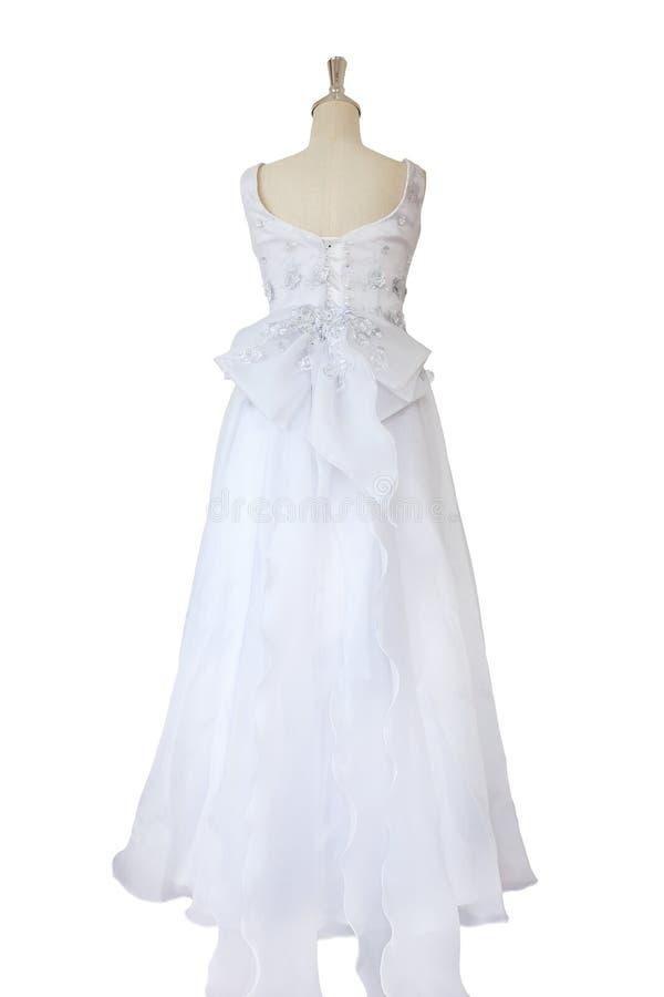 Vestido de boda aislado fotografía de archivo libre de regalías