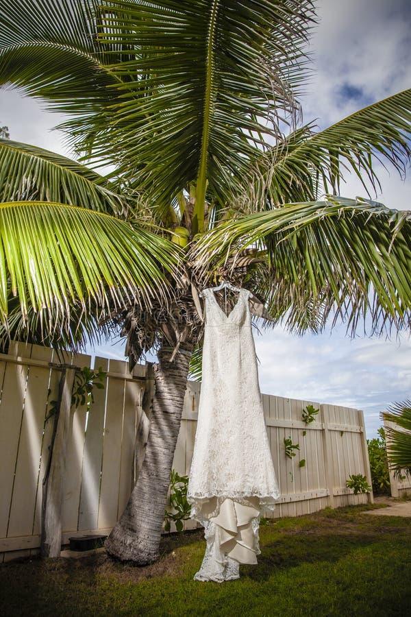 Vestido de boda de la ejecución imagen de archivo libre de regalías