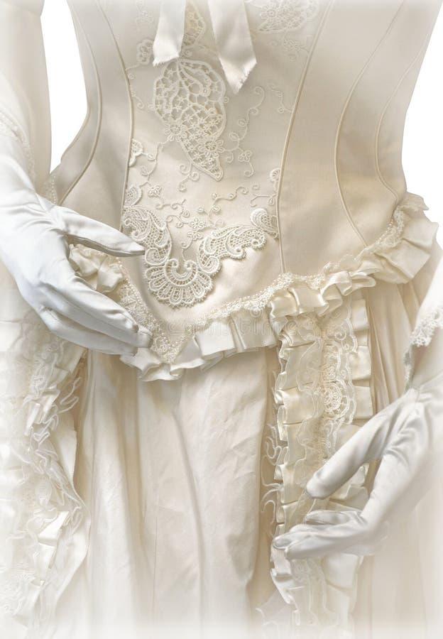 Vestido de boda del vintage foto de archivo libre de regalías