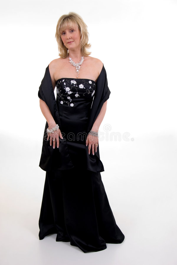 Vestido de bola negro imagen de archivo