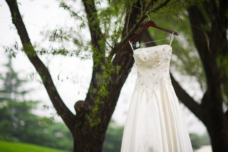 Vestido de casamento foto de stock royalty free