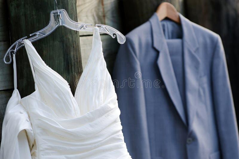 Vestido de casamento & roupa cerimonial imagens de stock royalty free