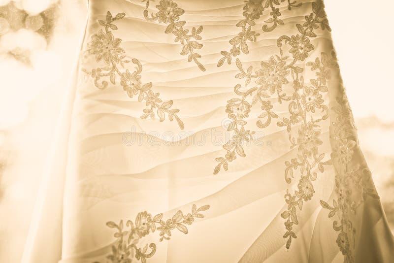 Vestido de casamento branco imagens de stock royalty free