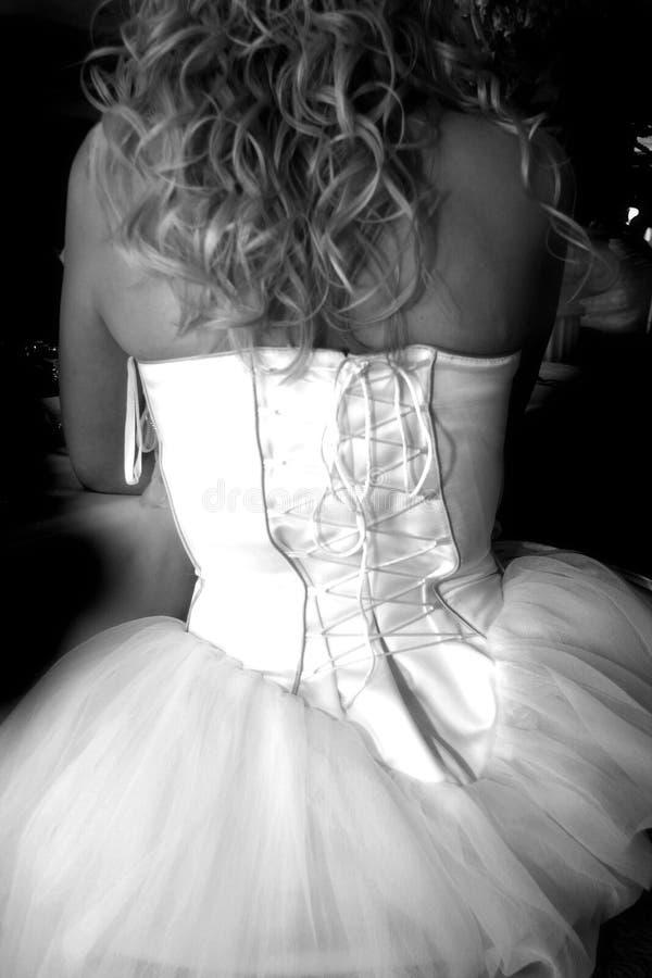 Vestido de casamento elegante imagem de stock royalty free