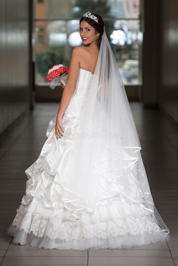 Vestido de casamento elegante foto de stock royalty free