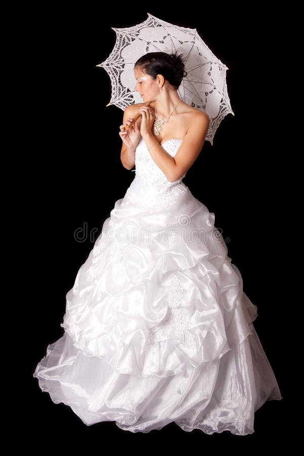 Vestido de casamento no modelo de forma foto de stock
