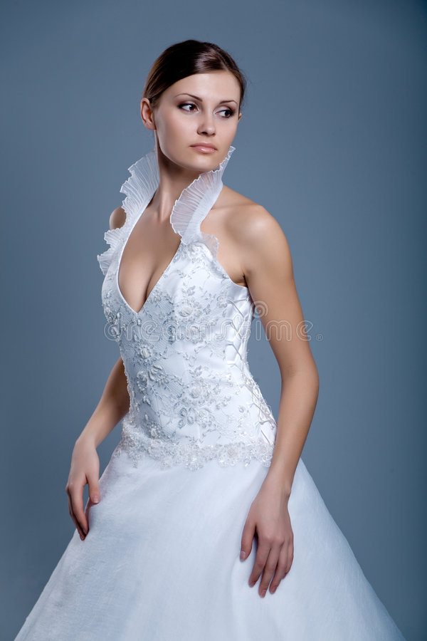 Vestido de casamento no modelo de forma fotos de stock
