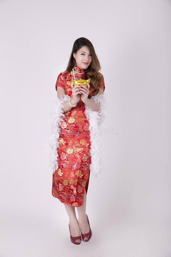 Vestido de Cheongsam fotos de archivo