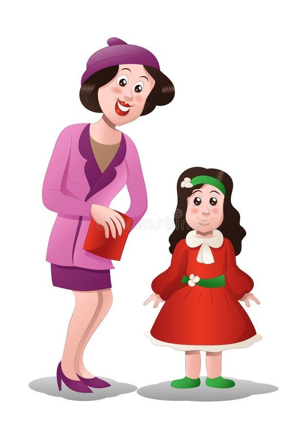 vestido de la compra de la mamá libre illustration