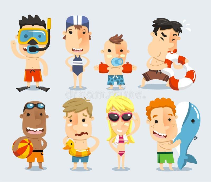 Vestido de los niños para la piscina libre illustration