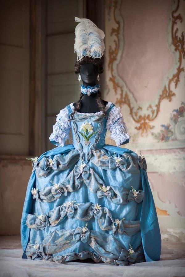 Vestido de Marie Antoinette imagen de archivo